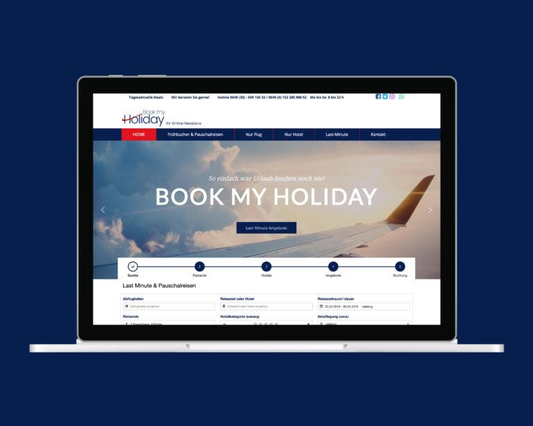 laptop website bookmyholiday