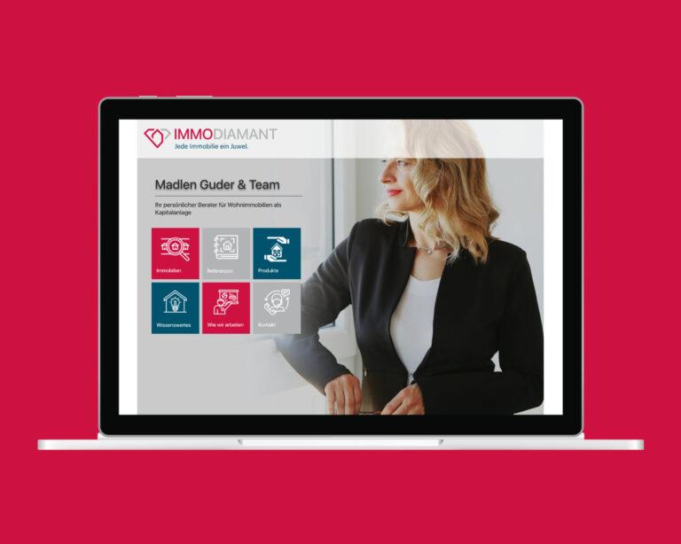 laptop website immodiamant