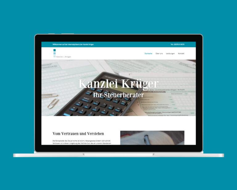 laptop website kanzlei krueger