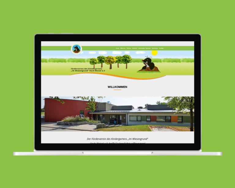 laptop website kiga hoch weisel