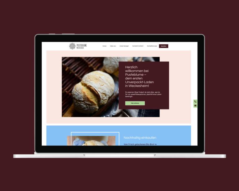 laptop website pusteblume